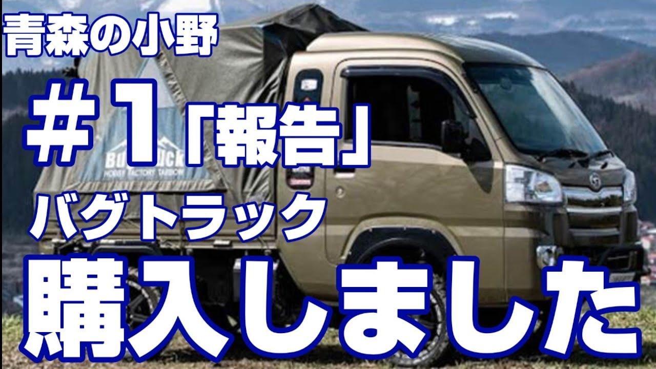青森県産の軽トラキャンピングカー「バグトラック」購入しました!