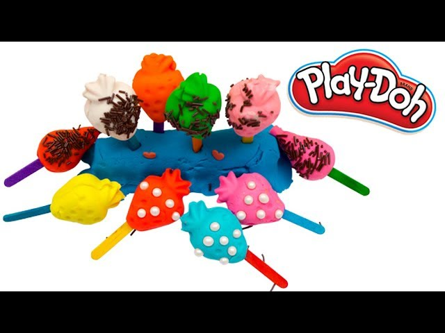 Play Doh Strawberry Ice Cream | How to make a play doh ice cream | learn colors for kids|