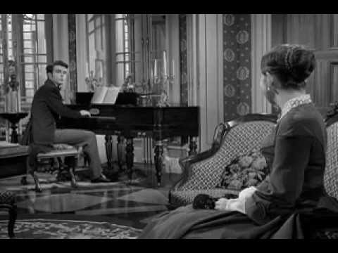 MONTGOMERY CLIFT  - lovely scene from The Heiress, 1949, with Olivia de Havilland