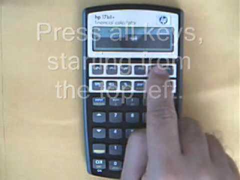 hp 17bii keyboard test youtube rh youtube com HP 17Bii Tutorial HP 17Bii Financial Calculator