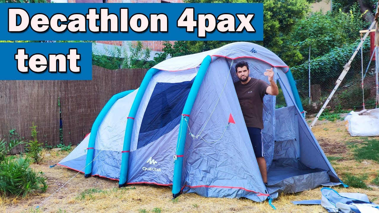Setting up camping tent Air seconds 4 1 family XL Quechua Decathlon ud83c udfd5 ufe0f YouTube ~ 14011927_Camping Liegestuhl Decathlon