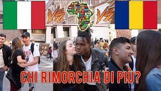 Italiano VS Africano VS Rumeno - Chi prende piu BACI dalle RAGAZZE vince!