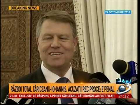 """Tăriceanu este sau nu """"la cuţite"""" cu preşedintele Iohannis? Iohannis este nervos pentru că nu ar"""