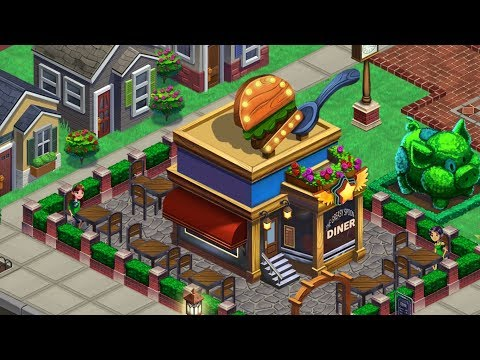 DINER DASH TOWN ADVENTURES - Gameplay Walkthrough IOS / Android - Chapter 1 And 2 All Levels 3 Stars