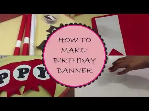 diy how to make birthday banner youtube