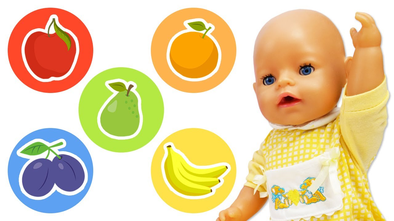 Play Doh cookies for baby Annabell doll - Cooking toy food for baby doll & videos for kids.