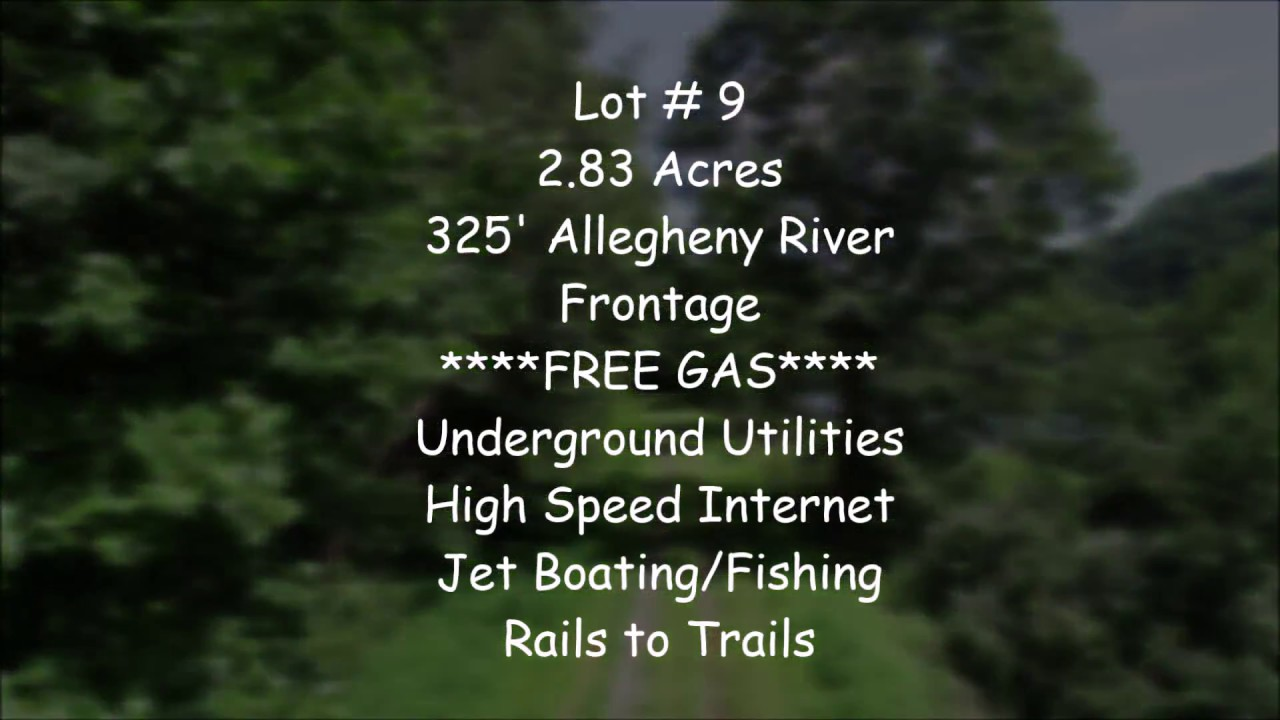 Allegheny Riverfront Land in Pennsylvania for Sale