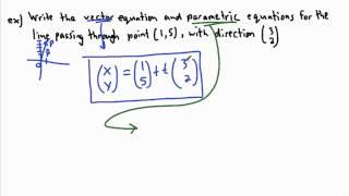 IB Math - Vectors - Equation of a line