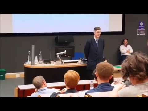 Jacob Rees-Mogg speaking at Canterbury Christ Church University May 2018