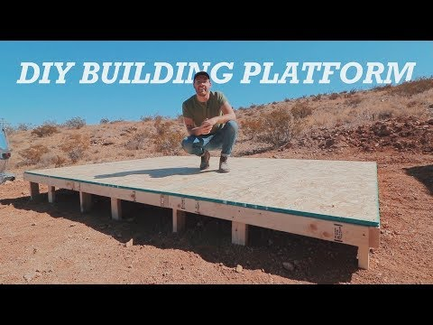 How to Make a Backyard / Jobsite Building Platform | Modular Deck