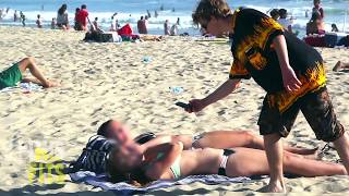 Taking Pictures of People at The Beach PRANK