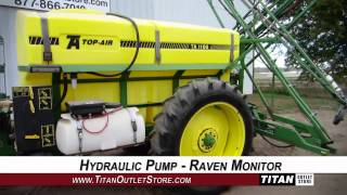 TopAir TA1100 - 60 ft, 1100 gal, Raven, 14.9R38, Triple Sprayer-Pull Type Sold on ELS!