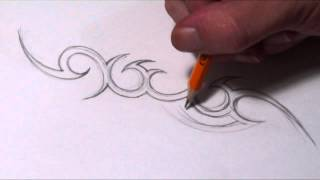 tattoo simple draw designs tribal drawing