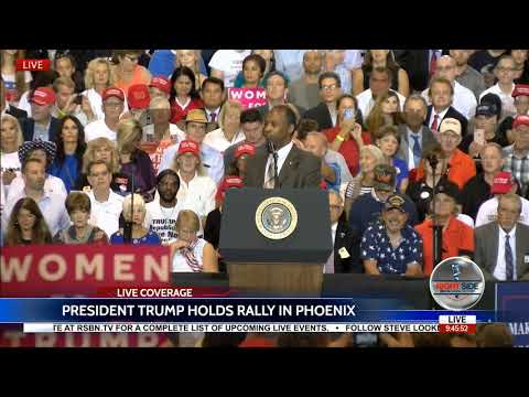 HUD Secretary Dr. Ben Carson Speaks at President Trump Rally in Phoenix, AZ 8/22/17