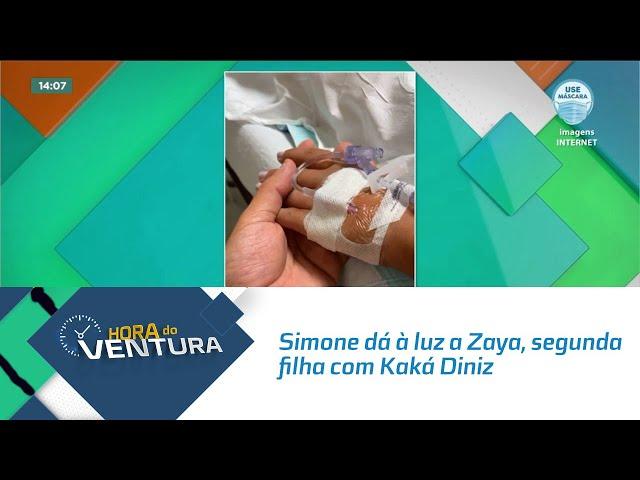 Simone dá à luz a Zaya, segunda filha com Kaká Diniz