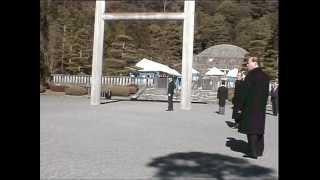 昭和天皇陵での 昭和天皇祭 2006年1月7日.