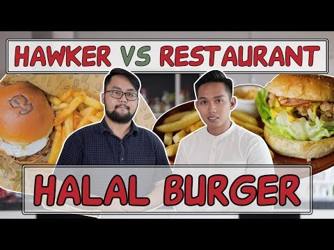 HAWKER VS RESTAURANT | Best Halal Burgers In Singapore | EP 6