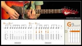 Jouer Long train running (The Doobie Brothers) - Cours guitare. Tuto + Tab