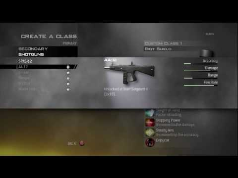 Call Of Duty Modern Warfare 2 All Guns Perks Equipment Hd