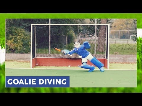 Field Hockey Goalkeeper Diving - Goalkeeper Technique | HockeyheroesTV