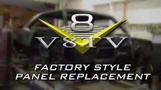 Camaro Restoration Factory Style Quarter Panel Replacement Video at V8 Speed & Resto Shop