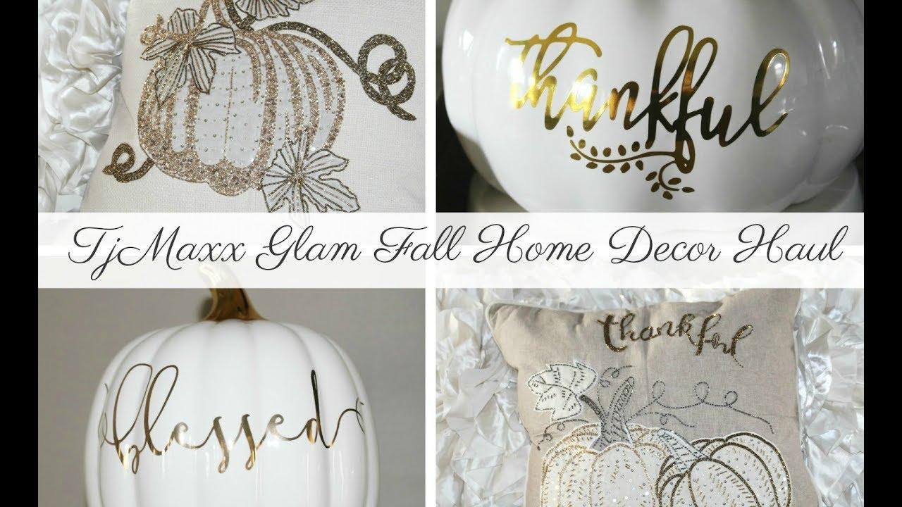 tjmaxx glam fall home decor haul - youtube