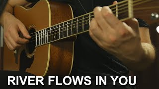 Как играть: River Flows in You на гитаре + Табы