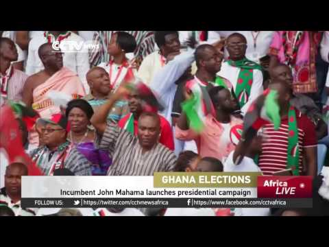 Incumbent President in Ghana launches presidential campaign
