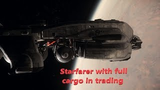 Star Citizen - Starfarer with full cargo in trading