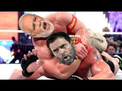 Narendra Modi vs Rahul Gandhi WWE fight thumbnail