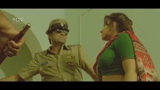 Pooja Gandhi warning to Police Ravishankar | Dandupalya Movie Scene-02 | Kannada Movies