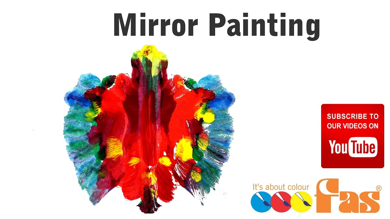 How To Paint Folded Paper Mirror Butterfly Paintings For Preschool