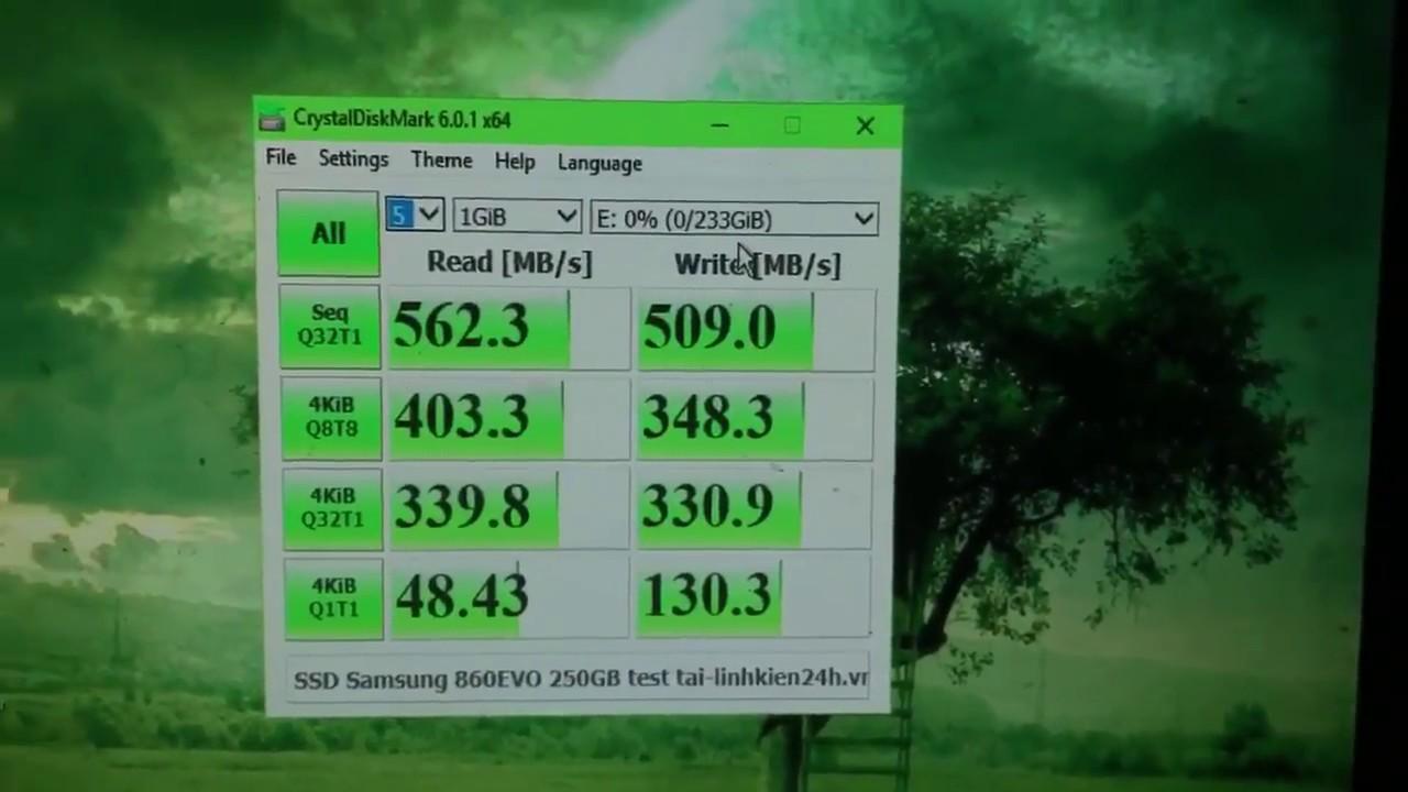 Hướng dẫn cách test tốc độ ổ cứng SSD