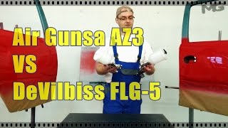Air Gunsa Az3 vs DeVilbiss FLG 5 - TEST & DEMO