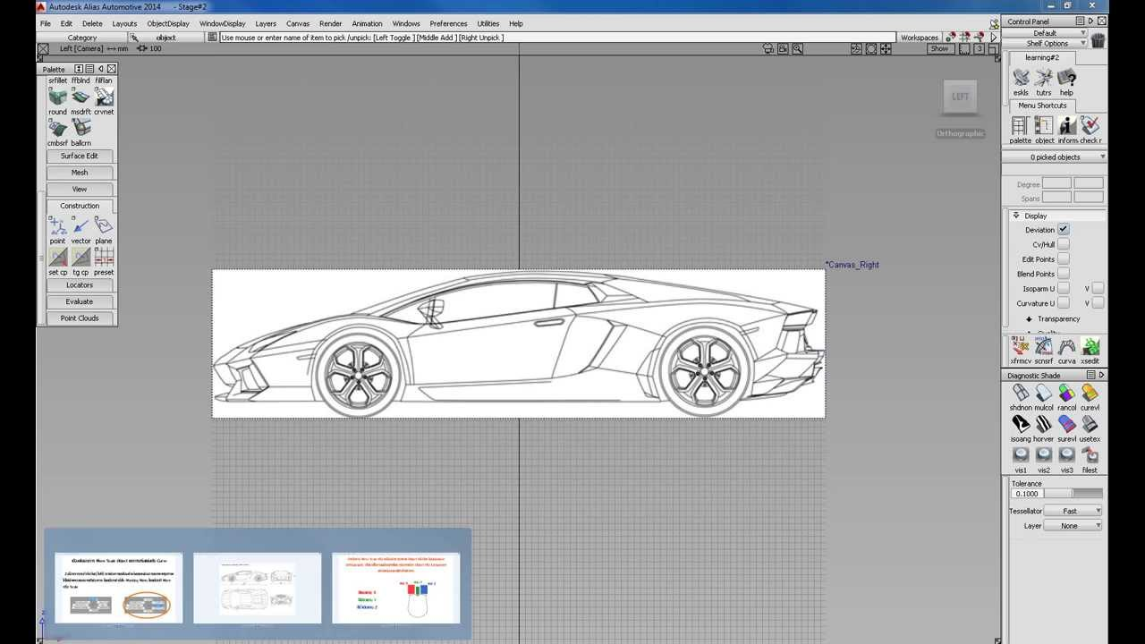 Autodesk alias basic for car modeling part 5 blueprint setup youtube malvernweather Gallery