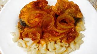 Жареная треска в томатном соусе