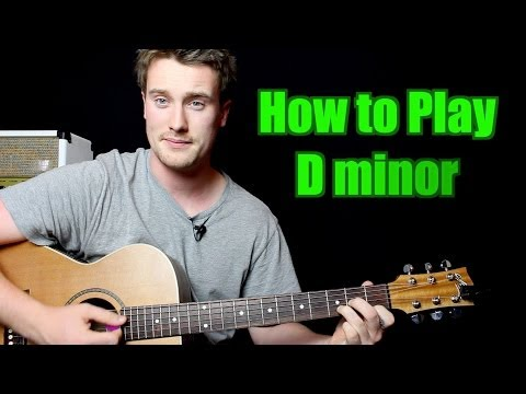 how-to-play---d-minor-(chord,-guitar)