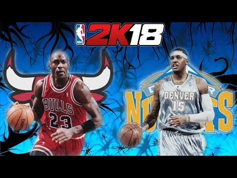 MICHAEL JORDAN VS CARMELO ANTHONY! (NBA 2K18 Online Match) 95-96 Chicago Bulls 07-08 Denver Nuggets!