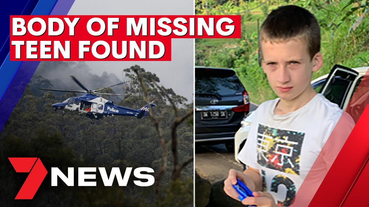 Tragedy as body of missing teen with autism found after overnight search | 7NEWS