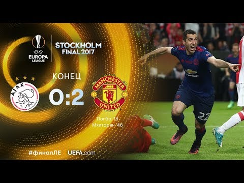 Аякс - Манчестер Юнайтед 0:2 ОБЗОР МАТЧА HD.Финал Лиги Европы 2017.