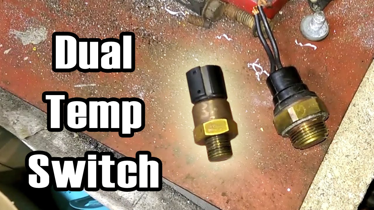 89 XJ BMW Dual Temp Switch & 2 Speed Fan Wiring - YouTube