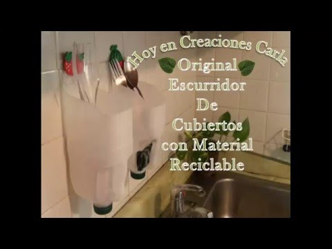 Reciclaje de Botellas Plásticas - Escurridor de Cubiertos - YouTube 6475046ee9e5