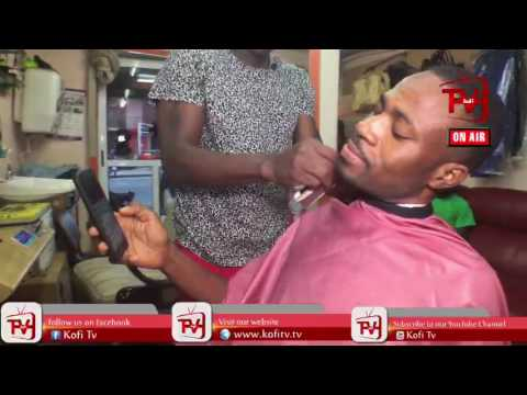 KOFI ADOMAH IN THE BARBERING SALON #KofiTVLive