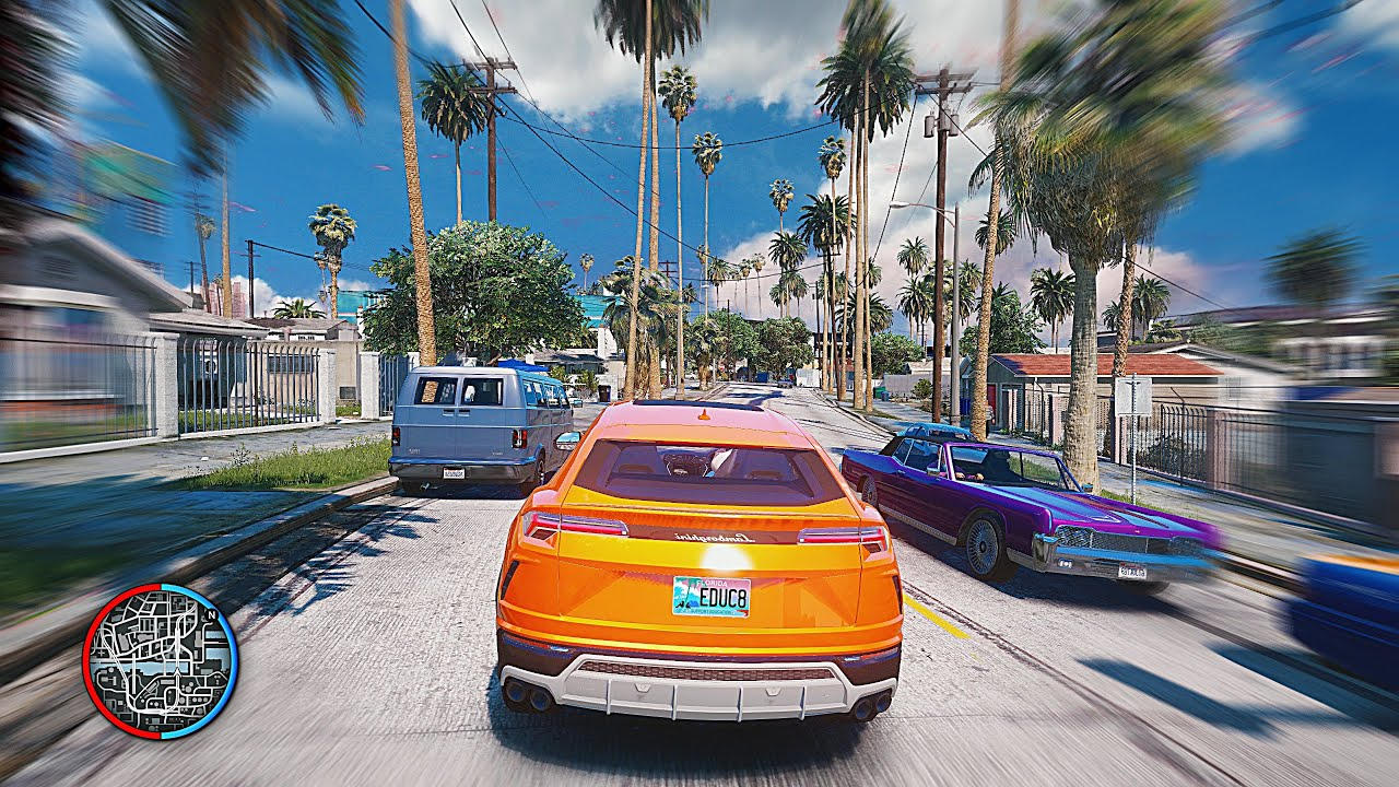 ►GTA 5 - Ultra 8k *NEW 2019* Ray-Tracing Real Life Graphics Mod! [2x RTX  2080 Ti $10,000 Gaming PC]