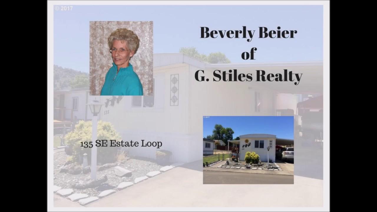Beverly Beier - G Stiles Realty - (541) 672-1616 - Estate Loop - MLS# 17096382