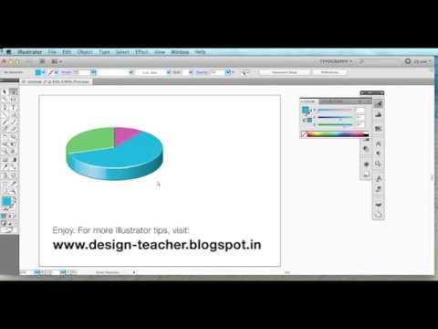 Stunning 3d Pie Charts In Adobe Illustrator Hd Youtube