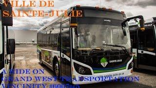 Ville de Sainte-Julie: A Ride on Grande West Transportation Vicinity #6007(24)5 [HD]