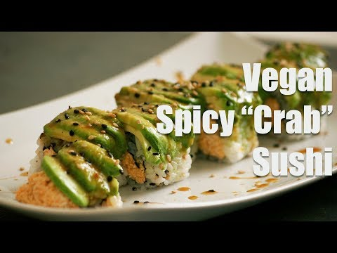 """vegan-spicy-""""crab""""-sushi-roll-(vegan-sushi-101)"""