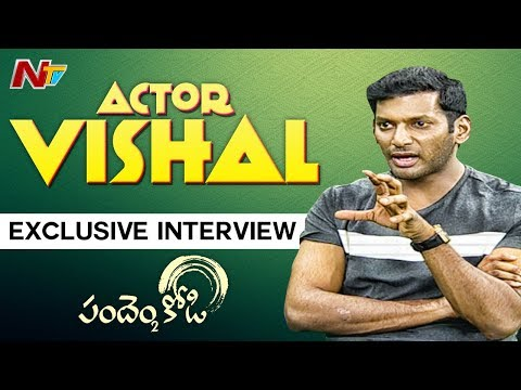 Hero Vishal Exclusive Interview About Pandem Kodi 2 Movie | NTV