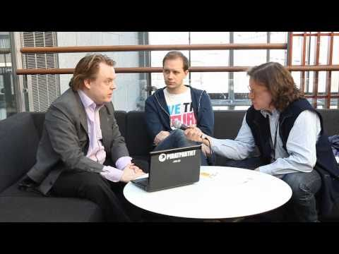 Talking about books and book publishing with Peter Sunde and Rick Falkvinge